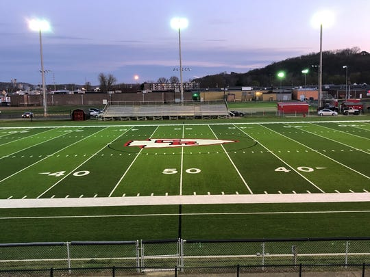 Coshocton's Stewart Field was lit up on Monday night like many in the state to honor the Senior Class of 2020 as well as first responders.