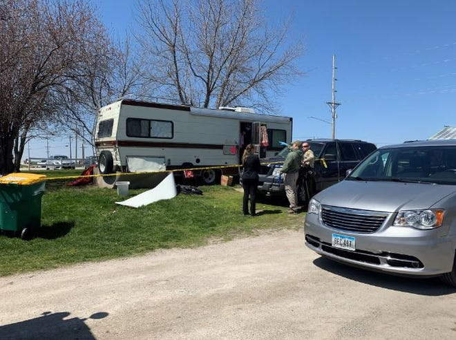 Story County officials found three adults dead from apparent carbon monoxide poisoning in this trailer on Tuesday, April 21.