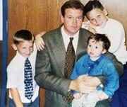 Russ Skubal with his boys.