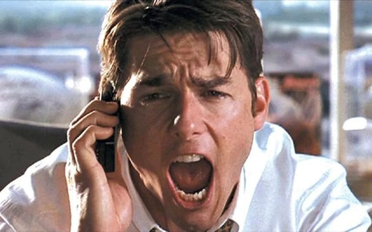 """Tom Cruise in """"Jerry Maguire."""""""