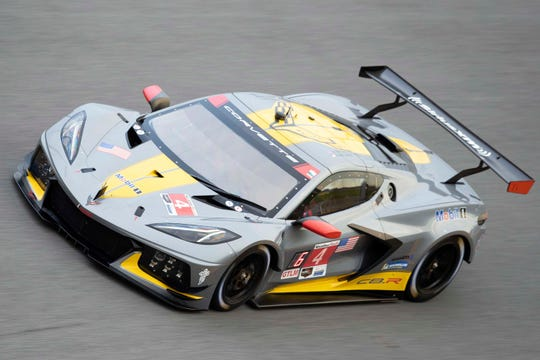 The Corvette Z06 will share the same, 5.5-liter, flat-plane crank engine as the Corvette C8.R race car. At the Daytona Roar Before the 24 at Daytona International Speedway in Daytona Beach last January, the #4 Corvette C8.R driven by Oliver Gavin, Tommy Milner, and Marcel Fässler set fast time.