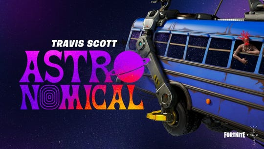 Travis Scott's Astronomical concert can be viewed Thursday on Fortnite.