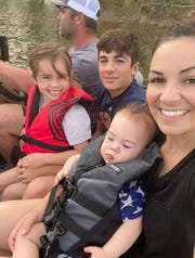 The Semmes family is spending quarantine at their camp. From left are Ryan, Collette, Kagen, Callum and Cassie Semmes.