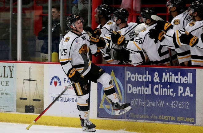 Jed Pietila, a 2017 Hartland High School graduate, has committed to Michigan Tech after three seasons with Austin (Minn.) of the North American Hockey League.