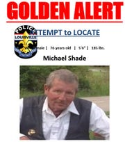 Michael Shade was last seen on Feb. 10, according to police.