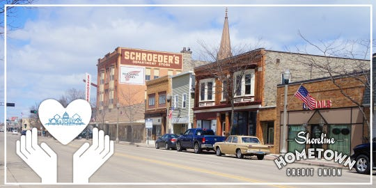 Downtown Two Rivers. Shoreline Hometown Credit Union created a grant to help local businesses suffering during the coronavirus pandemic.