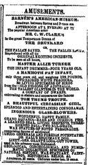 As this 1866 newspaper ad shows, American showman P.T. Barnum's efforts were, for lack of a better term, freak shows.