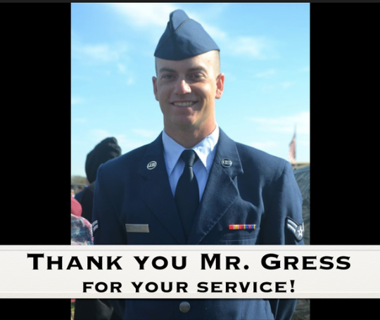 Elgin High School intervention specialist Nick Gress is a member of the Ohio Air National Guard. He's one of the teachers featured in the video #InThisTogether, made by staff members to encourage students and their families.