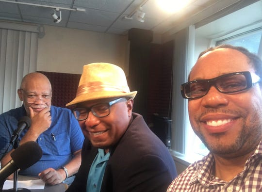 Mike Anderson, James E. Causey and Everett Marshburn from Black Nouveau discuss what transpired in Sherman Park with WNOV-860AM talk show host Eric Von (not pictured.)