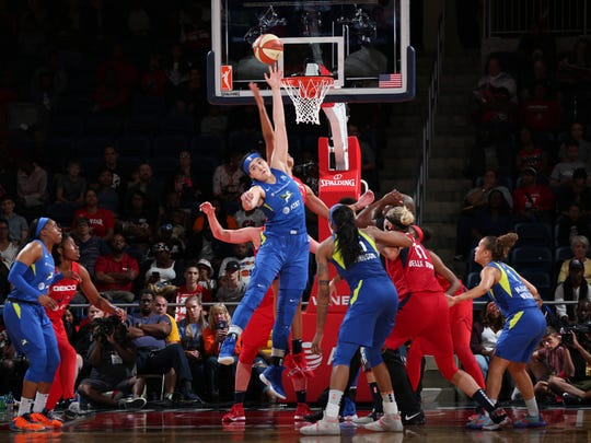 Megan Gustafson averaged 9.5 minutes a game in 25 games off the bench as a rookie for the Dallas Wings.