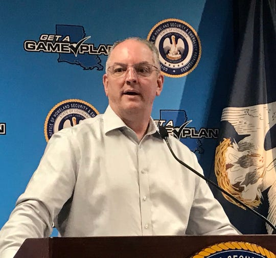 Louisiana Gov. John Bel Edwards gives an update on the coronavirus during a press conference on April 21, 2020.