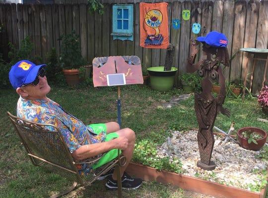 Jerry Dupas, WWOZ volunteer, Festing in Place (photo courtesy WWOZ)