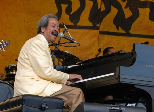 The late Allen Toussaint, at the New Orleans Jazz and Heritage Festival (photo courtesy WWOZ)