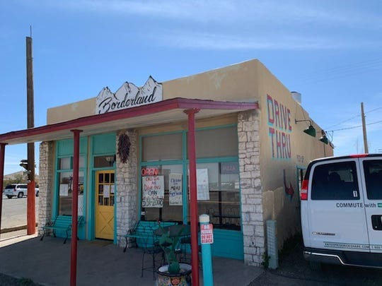 Borderland Café in Columbus, New Mexico offers drive-thru service on Tuesday, April 21, 2020.