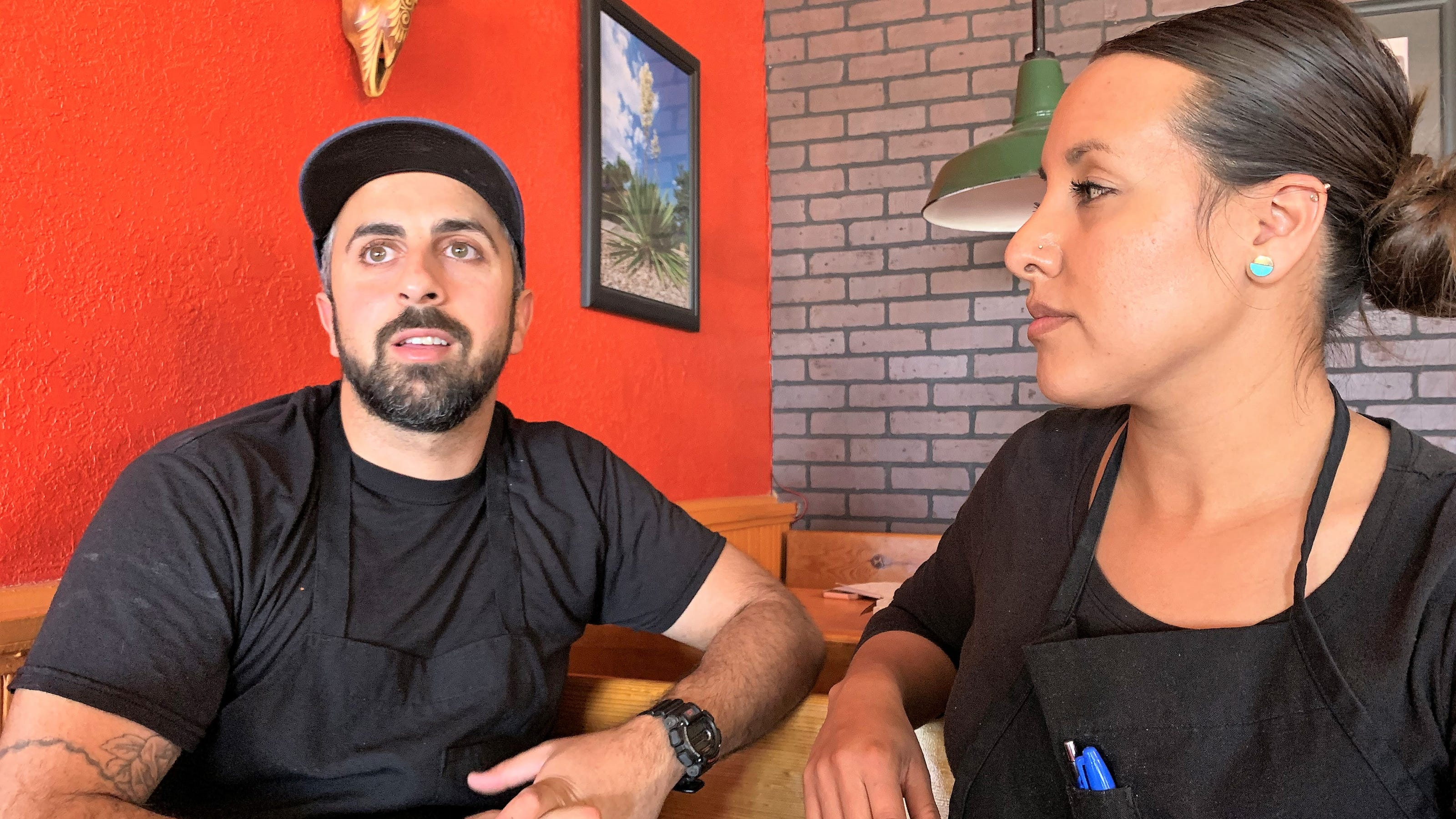 A Columbus, N.M. restaurant mourns as border wall 'man camp' moves out of town