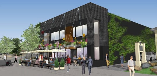A rendering of the proposed eatery at 470 N. Old Woodward in downtown Birmingham.