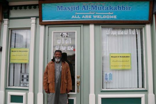 Imam Anwar Kearney of Masjid Al Mutakabbir in the City of Poughkeepsie on April 20, 2020.