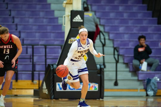 Jinda Guidinger, older of sister of Central York High senior Gabe Guidinger, is shown here while playing at Western Illinois University. Jinda recently announced she will transfer to Minnesota State University, Mankato, two hours from Gabe at St. John's University.