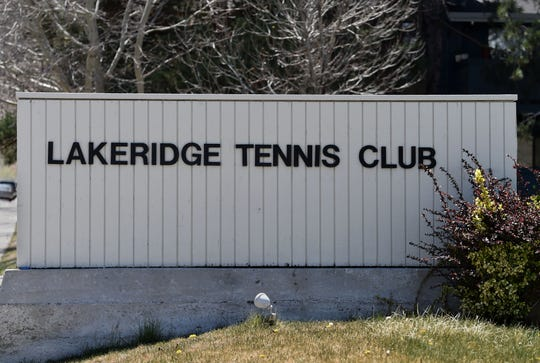 Lakeridge Tennis Club April 21, 2020.