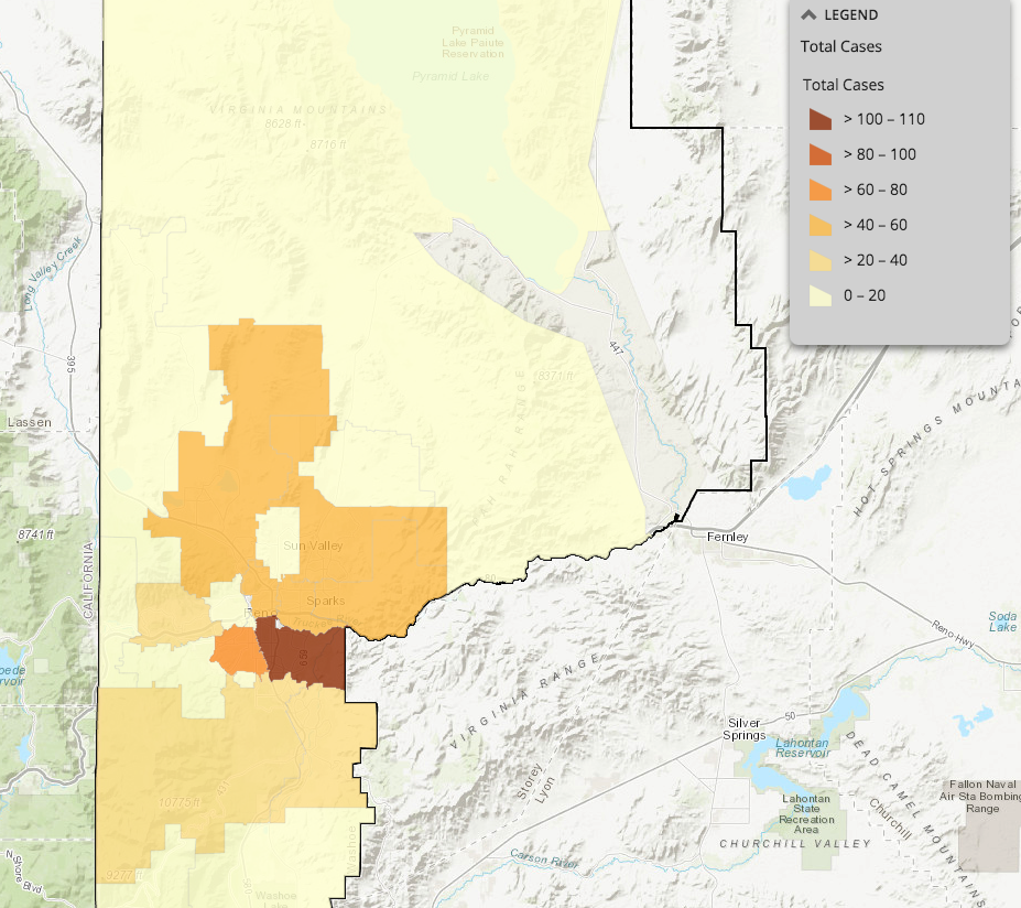 Image of: Washoe County Coronavirus Map Breaks Down Covid 19 Cases By Zip Code