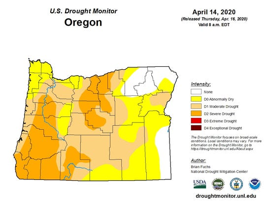 Oregon is already in a fairly deep drought heading into the summer.