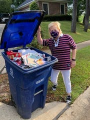 Donna Cavanaugh is doing her part to reduce the amount of garbage entering the city's landfil