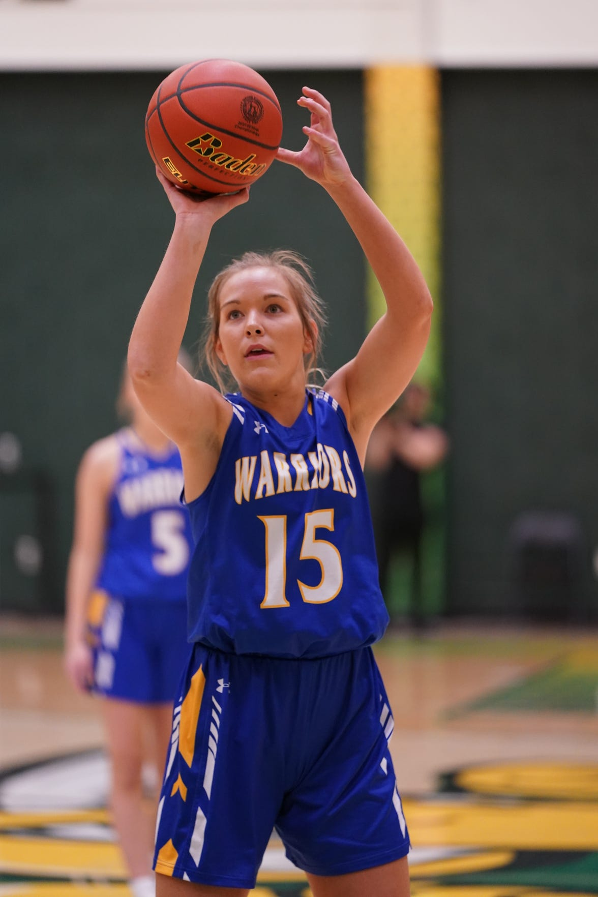 Castlewood junior Alayna Benike shoots a free throw during the Class B quarterfinal against Ethan.