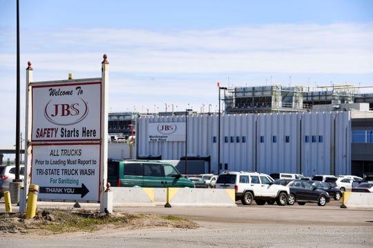 A JBS pork plant, a new hotspot for the coronavirus, is seen Tuesday, April 21, in Worthington, MN.