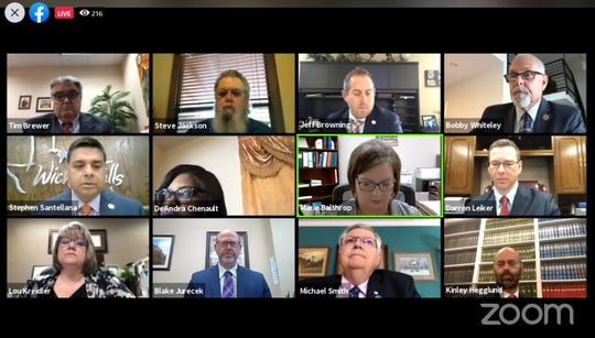 The Wichita Falls City Council and some staff used Zoom for a council meeting Tuesday morning.