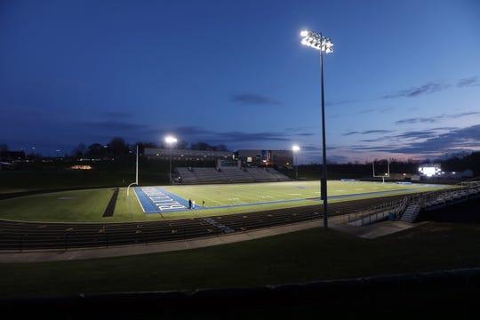 Zanesville High School lit John D. Sulsberger Stadium in honor of its senior class Monday night.