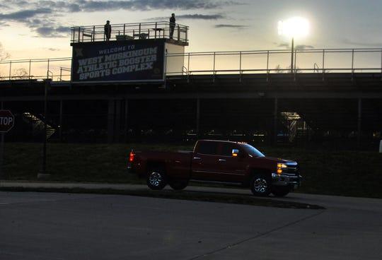 West Muskingum High School lit its football stadium Monday night in honor of its senior class.