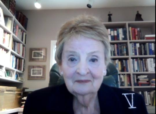 Madeleine Albright on Zoom