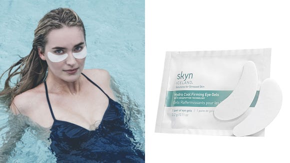 De-puff your eye area with the Skyn Iceland Hydro Cool Firming Eye Gels.