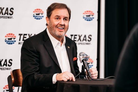 Texas Motor Speedway President Eddie Gossage on Feb. 26, 2020.