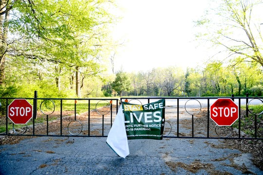 West Asheville Park remained closed April 21, 2020 amid the coronavirus.