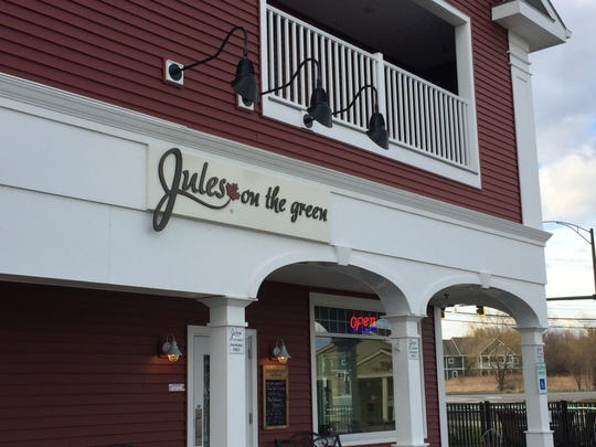 Jules on the Green is on Commonwealth Avenue at the corner of Vermont 15 and Old Stage Road in Essex.