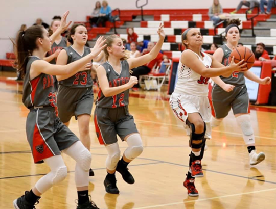 Middletown Madison's Kenzi Saunders is The Enquirer's Division III girls basketball player of the year. She was also the SWBL player of the year and the southwest district's Division III co-player of the year