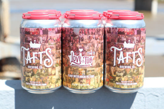 Love in the Tub, a peanut butter mocha pie stout, will benefit the Taft's Team Relief Fund.