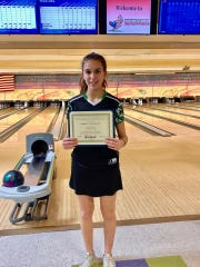 Seton bowler Rebecca Ochs is the Enquirer's Division I bowler of the year.