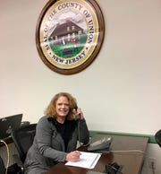 Colleen Goeller, a nurse at Linden Public School's Central Registration Office, volunteers with the Union County Office of Health Management in Westfield to help with case management for COVID-19.