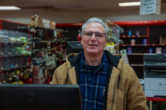 Owner Frank Santangelo inside Frank's Hardware & Building Supply on Wednesday, April 22.