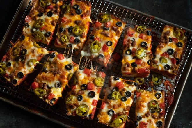 Jet's Pizza is offering a Mexican Pizza during May and June.
