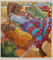 """""""""""Ndiaye and Her Baby"""" by Mayemba in """"Queen"""" at the Wright Museum through Aug. 2."""