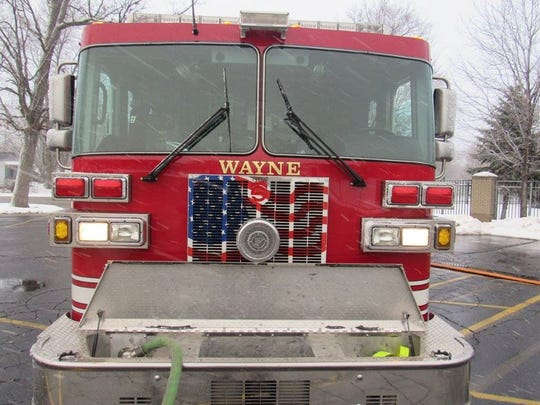 A firetruck belonging to the city of Wayne.