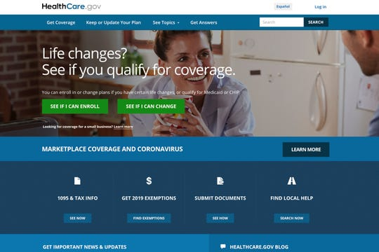 In this image provided by U.S. Centers for Medicare & Medicaid Service, the website for HealthCare.gov is seen.