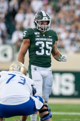 Michigan State linebacker Joe Bachie was one of Michigan State's most productive players, finishing with 285 tackles, including 27.5 for a loss, eight sacks, five interceptions, five forced fumbles and two fumble recoveries.