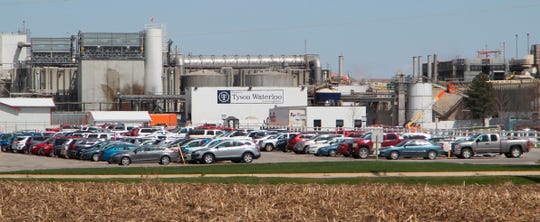 A Tyson Fresh Meats plant in Waterloo, Iowa.