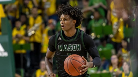 George Mason's Justin Kier averaged 9.6 points and 3.6 rebounds in nine games last season before his senior year was cut short.