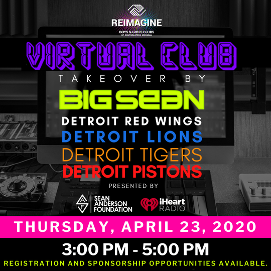 The Virtual Club fundraiser takes place from 3-5 p.m. April 23.