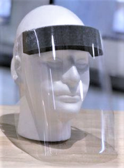 A prototype for a face shield made by Dresser-Rand in Painted Post for Guthrie healthcare workers.